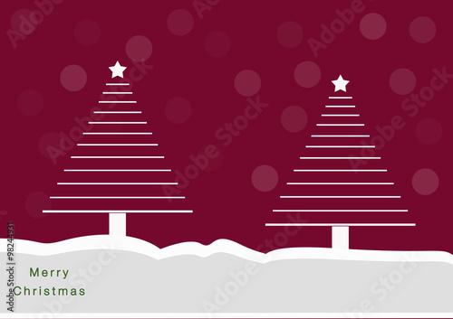 Alberi Di Natale A Righe Con Sfondo Rosso E Neve Buy This Stock