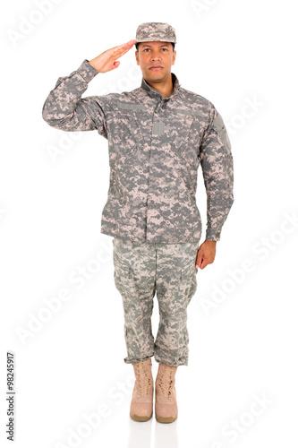 Tablou Canvas soldier saluting