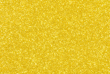 Yellow Glitter Texture Abstract Background