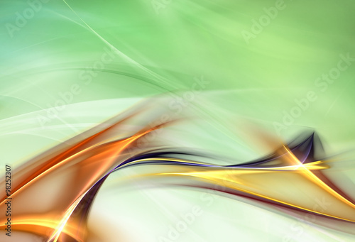Tuinposter Fractal waves Awesome abstract background