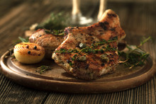 Grilled Pork Chop With Spices,...
