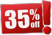 Modern Red 35% Discount Vector...