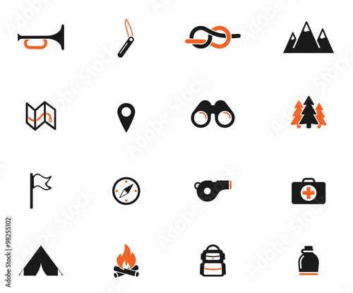 Boy scout simply icons - Buy this stock vector and explore