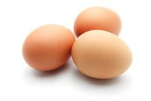 Three Eggs Isolated On White B...