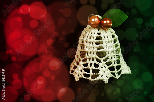 Photo  Tinkerbell Christmas decoration on the abstract color background