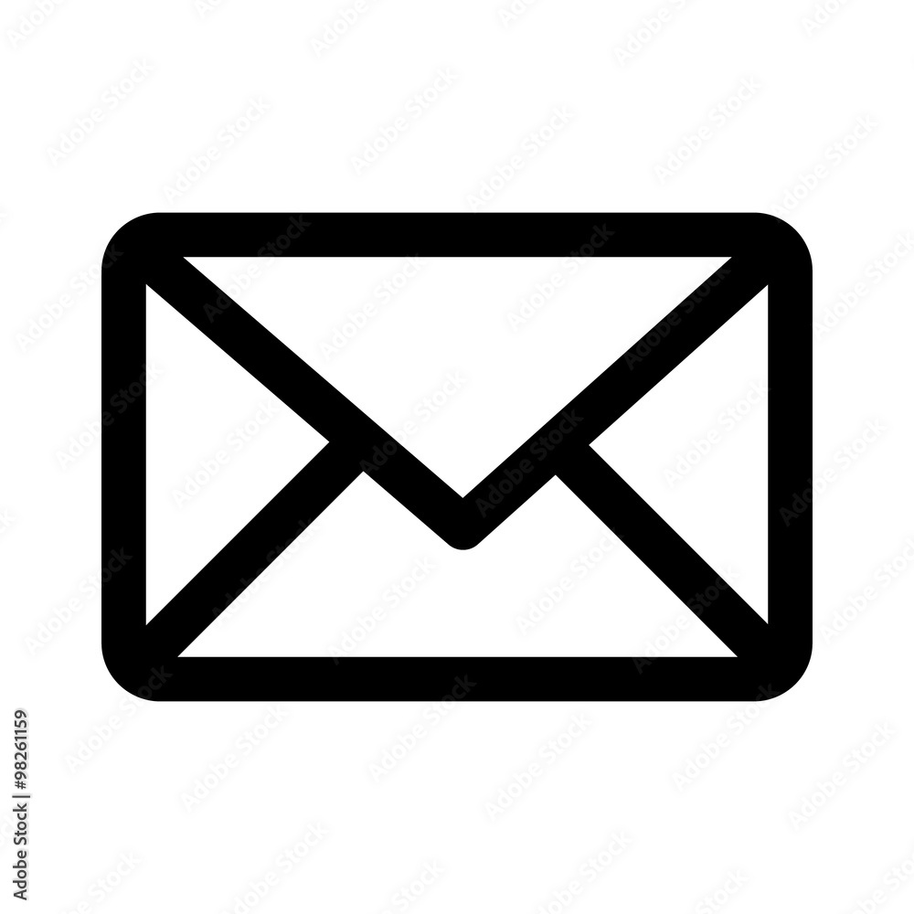 Fototapety, obrazy: Message envelope line art icon for apps and websites
