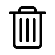 Trash Can (rubbish Bin) Line A...