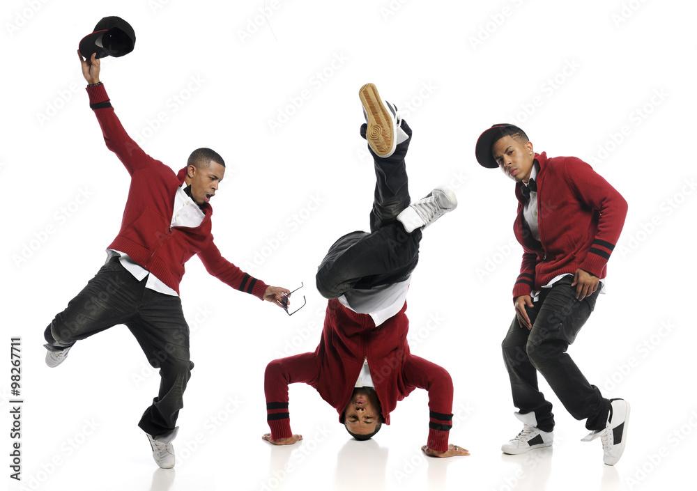 Fotografía Múltiples disparos del bailarín de Hip Hop que se ...