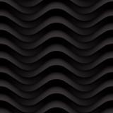 Wektorowa czerń fala textured bezszwowego tło panel - 98268764