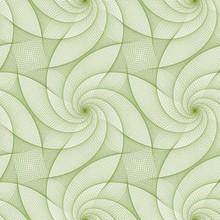 Green Repeating Fractal Line Pattern Design