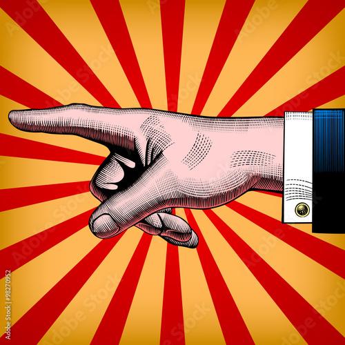 fototapeta na lodówkę Pointing hand