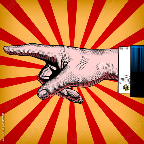 fototapeta na drzwi i meble Pointing hand