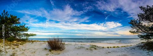 Fototapeta premium Panorama pejzaż morski