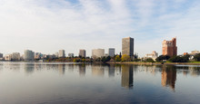 Oakland California Afternoon Downtown City Skyline Lake Merritt