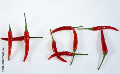 Staande foto Hot chili peppers Red chili