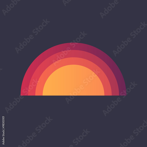 Photo  Cartoon Rainbow Dash Orange Red Purple - Isolated Vector Illustration