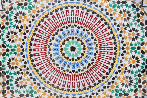 Carta da parati Round shape mosaic in moroccan style