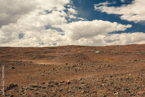 Mars landscape in Altai Mountains