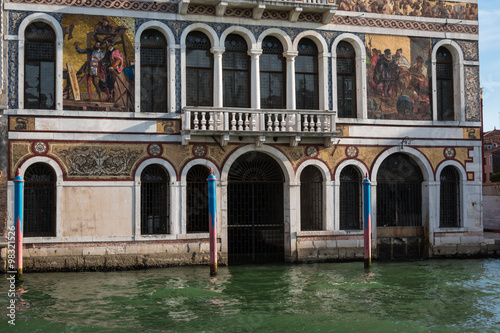 Old Facade along Typical Water Canal in Venice, Italy - 98321526