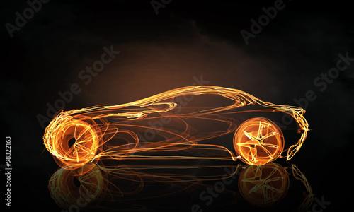 Obraz premium Symbol światła samochodu