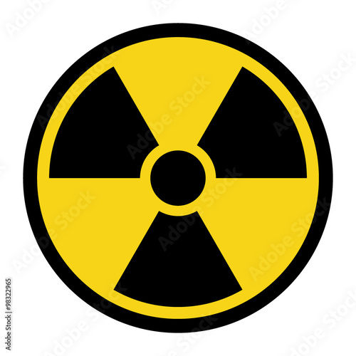 Fotografija Radiation Hazard Sign
