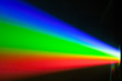 canvas print picture - rgb spectrum light of projector