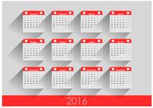 Calendario In Italiano 2016