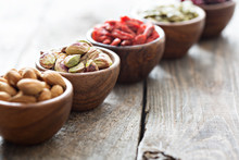 Variety Of Nuts And Dried Frui...