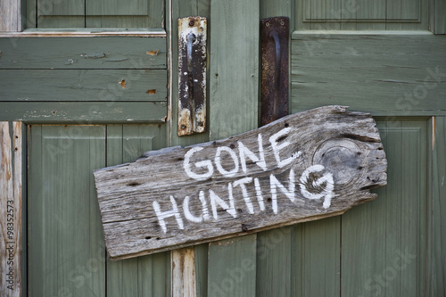 Gone hunting. Canvas Print