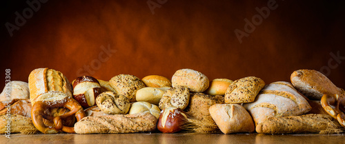 Fotografie, Obraz  bread and bun pile