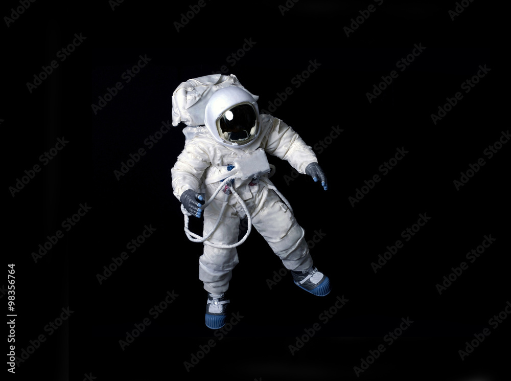 Photo Art Print Astronaut Floating Against A Black Background