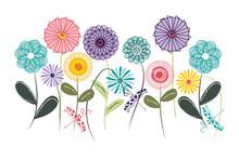 Wall Art, Nursery Or Children's Room Art. Kids Decor. Whimsical Spirograph Flower Garden With Dragonflies.