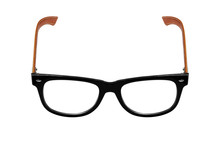 Black Glasses, Isolated On Whi...