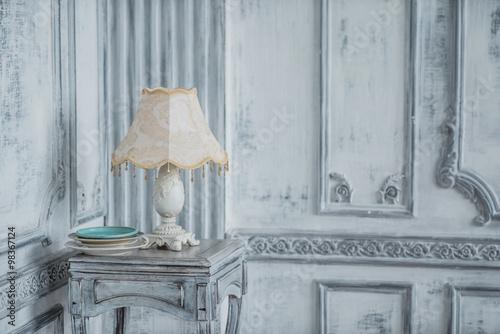 Foto op Plexiglas Retro vintage lamp