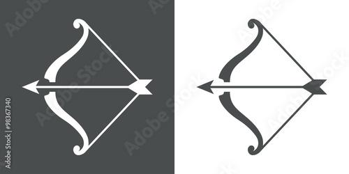 Pfeil und Bogen flach icon # 1 Fototapete
