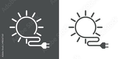 Obraz Icono plano energia solar #1 - fototapety do salonu
