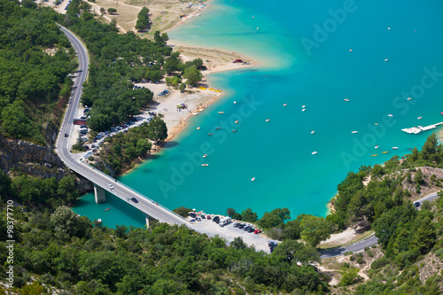 Spoed Foto op Canvas Turkoois st croix lake les gorges du verdon provence france