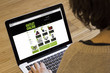 woman computer online outlet shopping