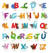 Ulstración De Vector Alfabeto...