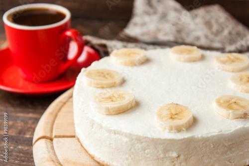 Fényképezés  banana cheesecake