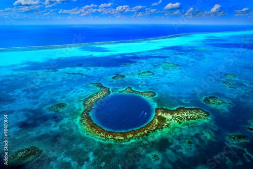 Great Blue Hole, Belize. Canvas Print