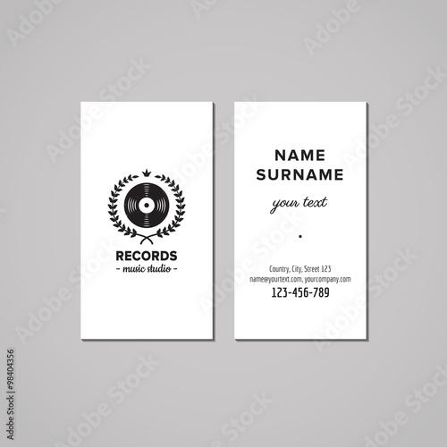 music studio business card design concept music studio logo with