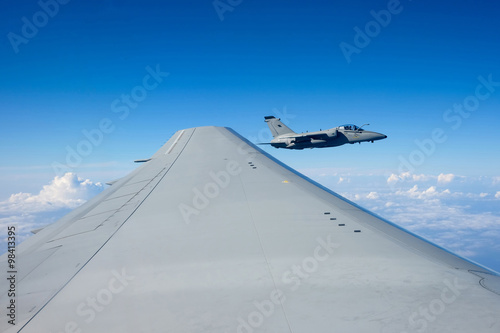 Photo  Air to Air AMX AM-X jet close up