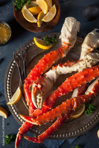 Fotografie, Obraz  Cooked Organic Alaskan King Crab Legs