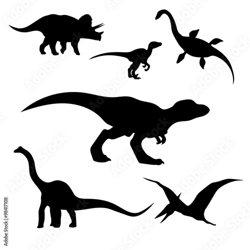 Photo  Dinosaurs set vector