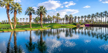 Golf Course And Water Feature In Palm Desert California.