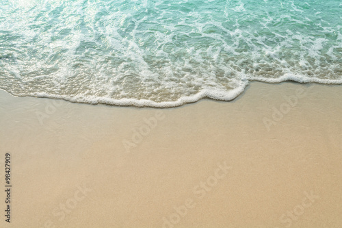 Sand beach and wave of the sea Canvas Print