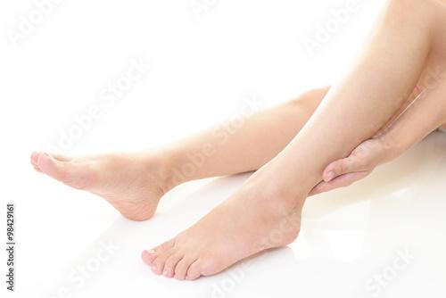 Poster Pedicure スキンケアをする女性