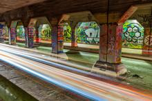 Graffiti On The Walls Of Krog Street Tunnel In Atlanta, Georgia