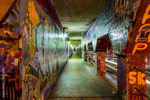 Poster Graffiti Graffiti on the walls of Krog Street Tunnel in Atlanta, Georgia